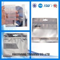 Alibaba china Biodegradable silver aluminum foil zip lock bag