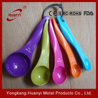 5pcs colorful measure spoon plastic spoon
