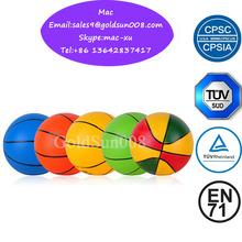 small/mini PVC plastic Basketball toy for kids