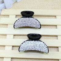 Free shipping cheap wholesale 2015 new 60x35mm plastic korean hair claw clip crystal hair claws for women