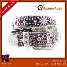 extra ancho de conchos baratos cinturones de diamantes de imitación