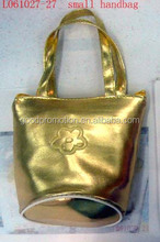 custom gold and silver metallic mini handbag for kids as fashion accessory for private label brand market