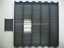 Pig slats balck 700X700k Pig/poultry slats porcino slats for cast iron slats/floor and plastic floor for pig farming feeding