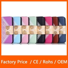 Lady Lace Chain Wallet PU Leather Case Cover Stand Card Holder Phone Case for iPhone 6 Plus 5.5''
