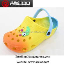 Gradients, rainbow color Simple Good quality PVC sandals garden jelly shoe for kid 2015