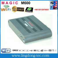 Freesky azamerica s1005 satellite internet receiver magic m600 with 3g iptv sks iks free twin tuner receiver for Brazil