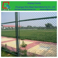 2015 new products guangzhou factory galvanized chain wire fance/chainlink security fencing
