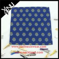 Silk Pocket Square with Custom Logo Allover Pocket Scarf Men