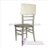 C115B wholesale cheap ivory FAUX FUR wedding party christmas chair covers