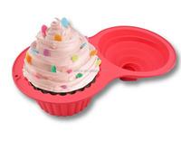 Non-stick silicone Jumbo Cupcakes Bake Set,Silicone Bakeware Cake Pan,bake king cake pan