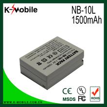 Hot selling High Quality 920mAh Camera battery NB-10L for Canon SX50 SX40 HS G1X NB10L NB-10L