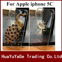 Free shipping phone cases 3D DIY cover Luxury Crystal Clear Diamond Bling Case for Apple iphone 5C