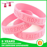 2015 hot sell glow in dark printed cheap custom silicon bracelet