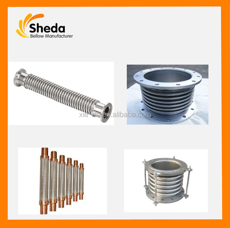 China Export Manufacturer Stainless Steel Corrugated Pipe Compensator,Stainless Steel Bellows Expansion Joints with Flange