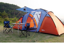 HT9127 high quality 3 rooms one hall large camping family tent