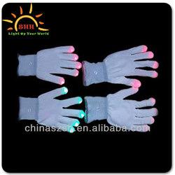 Led Glow Light Fabric Gloves Wholesale China