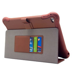 With card slot universal PC leather case for Ipad mini silicone tablet case