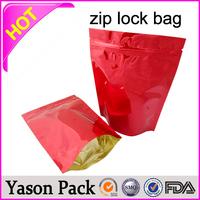 Yasongold background printed ziplock bag with clear frontpe ziplock transparent poly bag1g 5g 10g 11g 12g potpourri smoke zippe