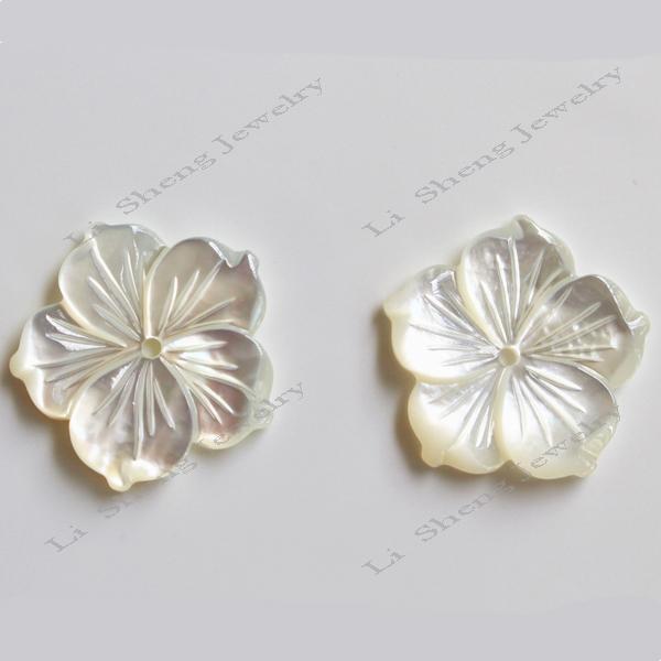 Оптовая продажа уникальная форма белый корпус бусины формы цветка бусины