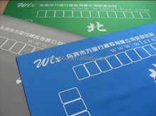 Custom sublimation printing natural rubber desk mat, poker and mahjong mat