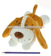 famous 33cm big eyes lovely white and brown dog plush toys
