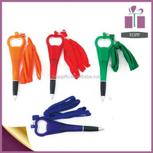 Promotional Ball Pen With Bottle Opener Strap Ball Point Pen