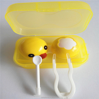 animal contact lens mate case cartoon