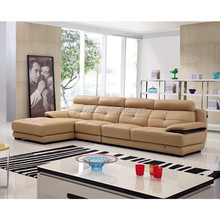 L shape modern leather recliner sofa arab
