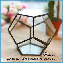 2015 Guangzhou Wholesale round geometric terrarium hanging ball shaped cleap clear glass flower vases