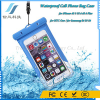 Universal ABS PVC Waterproof Cell Phone Bag Case for iPhone 4S 5 5S 6 6S 6 Plus for HTC One for Samsung S6 S5 S4