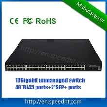 Best Price 10Gigabit Network Switch UK3712-50TA, 48 10/100/1000M RJ45 ports, 2 10GE SFP+ ports