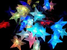 zhongshan guzhen star led lights string light, manufacturer star shape led christmas lights, Christmas holiday name lights