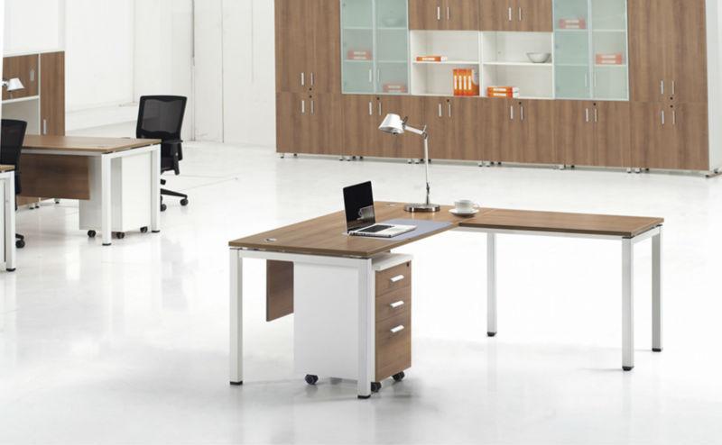 guangzhou reposteria con estantera escritorio de la esquina de madera y ruedas lqcd
