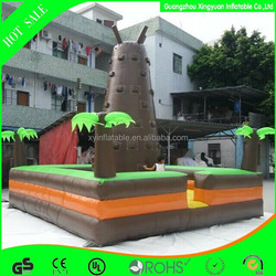 2015 new design custom inflatable inflatable palm theme climb tower wall for competition