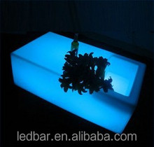 wood mini bar furniture LED table with CE certificate