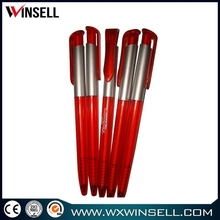 Crazy selling modern red ink plastic ball pen