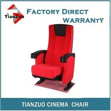 T-C36 Modern Cover Fabric Armrest Cinema Hall Chair Stackable Church Concert Music Opera House Chairs with cup holder