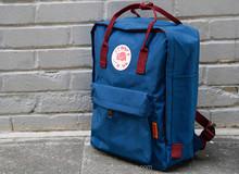 wholesale blue vintage canvas backpack