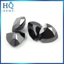 WuZhou Black Trillion Cut CZ Gems Artificial Zircon For Jewelry zirconia milling machine