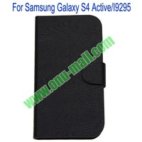 Wholesale Price Horizontal Stripes Leather Case for samsung i9295 galaxy s4 active