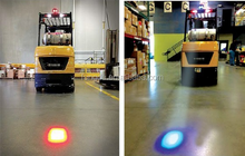 2015 new arrival blue and red led forklift warning light