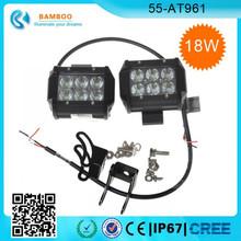 2x 18W 12V 24V LED Work Light SPOT Lamp for Tractor Truck SUV UTV ATV Offroad