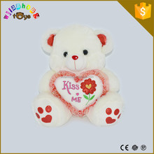 Valentine Day Gifts Chubby Stuffed Animal Cute And Lovely Teddy Bear With Heart Pillow
