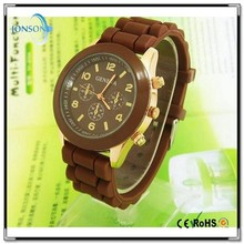 Alibaba fashion 15 colors OEM ODM geneva brand watches men silicone