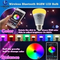 Remote control bluetooth smart LED bulb E27 CRI85 RGBW LED bulb android IOS app control bulb led