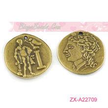 Antique Bronze 1989 Le Petit Prince (The Little Prince) Dos Pesos Charms Pendants