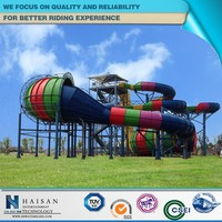 exciting and attractive popular amusement equipment, water slide material