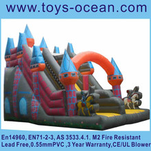 classical inflatable castle design slide ,inflatable knight slides for sale ,hot sell inflatable party slide for sale