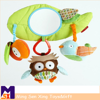 Lovely baby infant learning plush owl hanging toys for car/bed