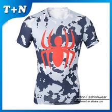 custom short sleeve spandex muscle fit t shirt